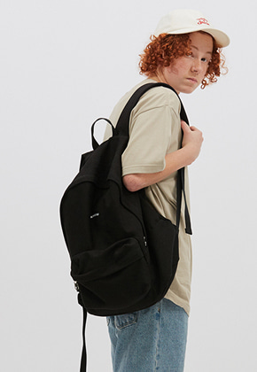 WKNDRS위캔더스 WAVY LOGO BACKPACK (BLACK)