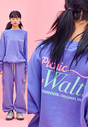 NEONMOON네온문 NEONMOON 19SP SWEAT SHIRT - PURPLE