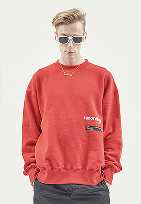 RDVZ RECORDING SWEAT TOP RED