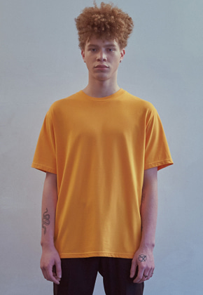 MMGL미니멀가먼츠랩 Silk essential t-shirt (Orange)