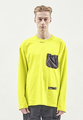 RDVZ STRING POCKET LONG SLEEVE LIME