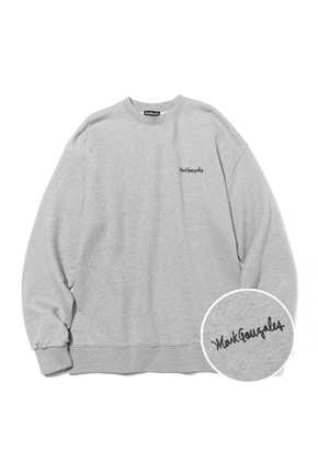 Markgonzales마크곤잘레스 M/G SMALL SIGN LOGO CREWNECK GRAY