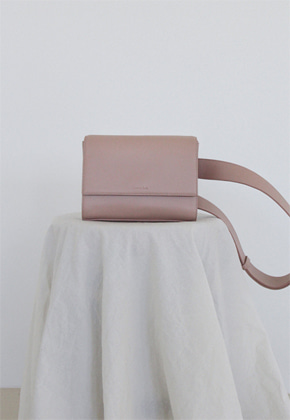 More or Less모어올레스 3-WAY LEATHER BAG - NUDE PINK
