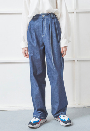 NOHANT노앙 DENIM WIDE PANTS BLUE