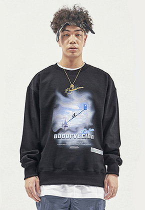 RDVZ OBSERVATION SWEAT TOP BLACK