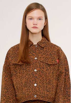 KIRSH키르시 TRUCKER JACKET IS [LEOPRAD]