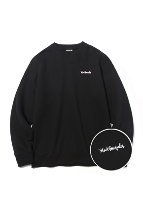 Markgonzales마크곤잘레스 M/G SMALL SIGN LOGO CREWNECK BLACK