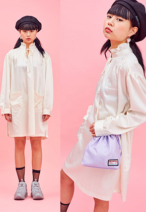 NEONMOON네온문 NEONMOON 19SP FRILL OPS - IVORY