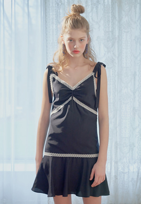Margarin Fingers마가린핑거스 ribbon slip one-piece