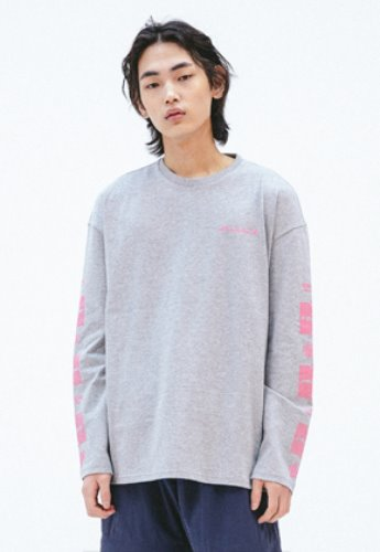FROMMARK프롬마크 FMK X KOMPAKT OVERSIZED LONG SLEEVE T  GRAY