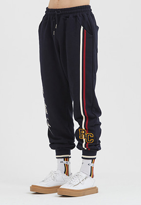 Romantic Crown로맨틱크라운 RC Double Line Sweat Pants_Navy