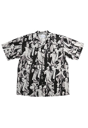 AJO BY AJO FINK LABEL XXX Hawaian Shirt [Black]