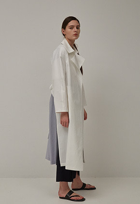 Muguet뮤게 STRING SLIT TRENCH COAT (WHITE)