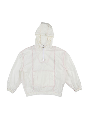 AJO BY AJO FINK LABEL Track Zip Up Anorak [White]