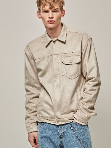 Yan13얀써틴 ORIGIN SUEDE JACKET_LIGHT BEIGE