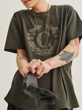 Choisi쵸이지 Laurel Crown Short Sleeve, khaki