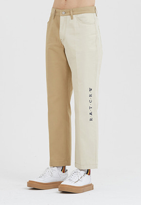 Romantic Crown로맨틱크라운 Tone On Tone Cotton Pants_Beige