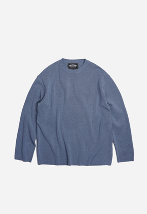 FRIZMWORKS프리즘웍스 Round collar knit _ blue