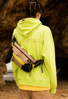 Anderssonbell앤더슨벨 UNISEX RUNNING EMBROIDERY ANDERSSON HOODIE atb295u LIGHT GREEN