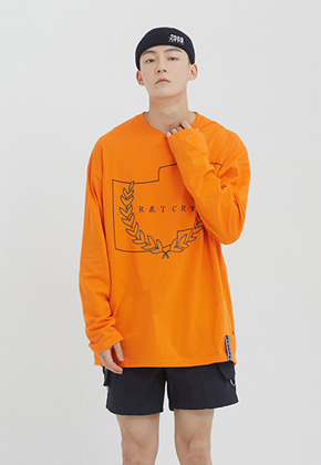 Romantic Crown로맨틱크라운 RMTCRW Long Sleeve_Orange