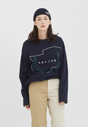Romantic Crown로맨틱크라운 RMTCRW Long Sleeve_Navy