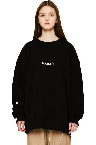 PIANARI피어나리 PIANARI logo Sweat Shirt (black)