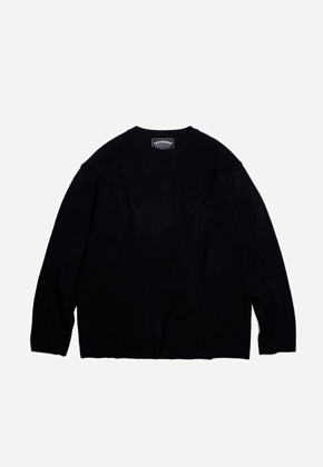 FRIZMWORKS프리즘웍스 Round collar knit _ black