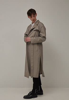 Muguet뮤게 BELT TRENCH COAT (GRAY)