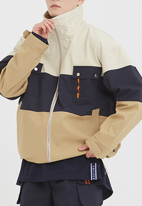 Romantic Crown로맨틱크라운 Easy Day Vibe Combination Jacket_Beige