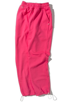 Kruchi크루치 Keyring point sweat pants (pink)