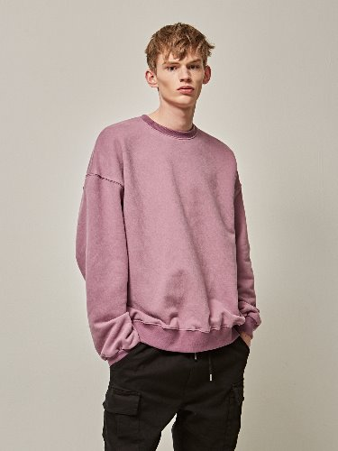 Yan13얀써틴 VIVID OVER CREW NECK_LAVENDER