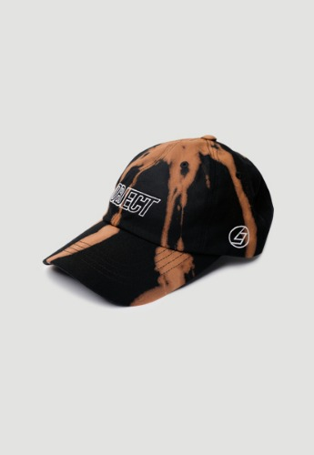 Object오브젝트 BLEACH OBJECT LOGO CAP (BLACK_WHITE)