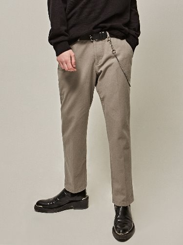 Yan13얀써틴 NATURAL STRAIGHT COTTON PANTS_GRAY