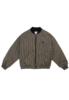 AJO BY AJO FINK LABEL Stripe Bomber Jacket [Black]