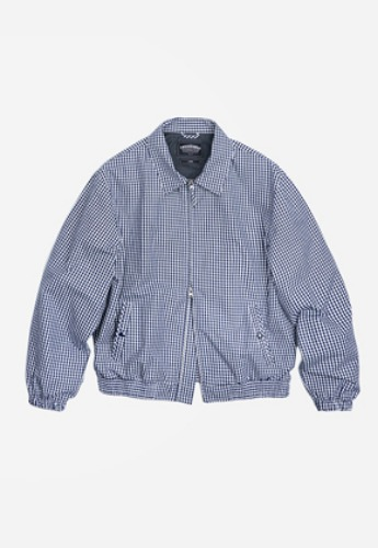 FRIZMWORKS프리즘웍스 Gingham check blouson jacket _ blue