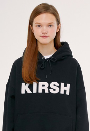 KIRSH키르시 KIRSH LOGO HOODIE IS [BLACK]