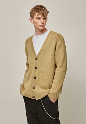 Yan13얀써틴 LOOSE SOFT Y CARDIGAN_OLIVE