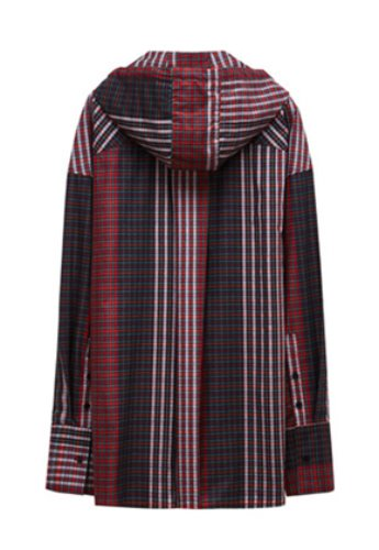 Evan Laforet에반라포레 [UNISEX] MULTI CHECK HOOD SHIRT