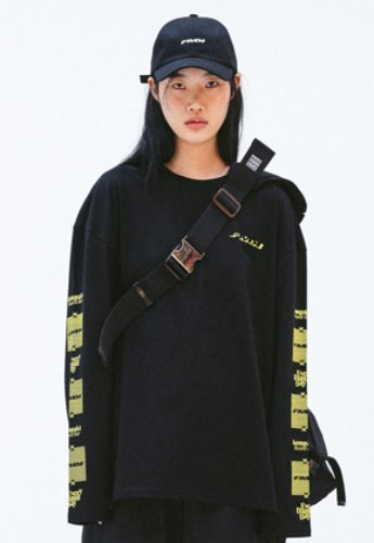 FROMMARK프롬마크 FMK X KOMPAKT OVERSIZED LONG SLEEVE T  BLACK