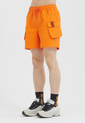 Romantic Crown로맨틱크라운 E.D.V Cargo Short Pants_Orange
