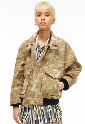 The Greatest더 그레이티스트 ]GT19SS11 LAYERED JACKET BEIGE