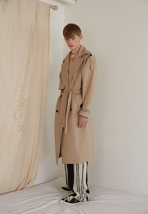 Nightflow나이트플로우 Epaulettes Trench Coat