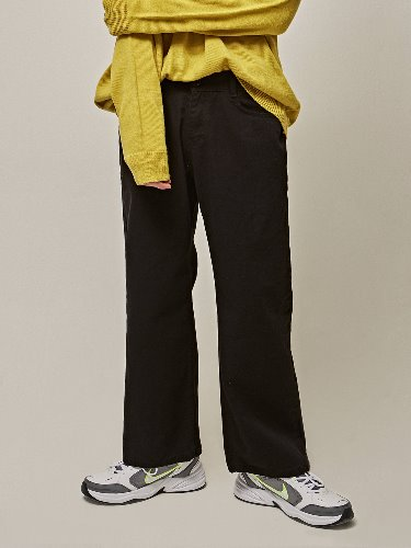 Yan13얀써틴 COTTON NEW WIDE PANTS_BLACK