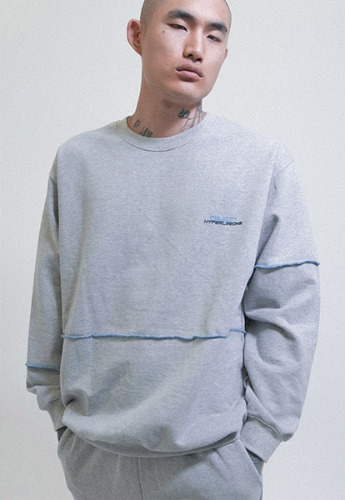 Object오브젝트 HYPERLINKING SWEATSHIRT (GRAY)