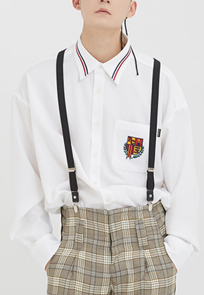 Romantic Crown로맨틱크라운 (4월초 발송) RMTCRW Collar Piping Shirt_White