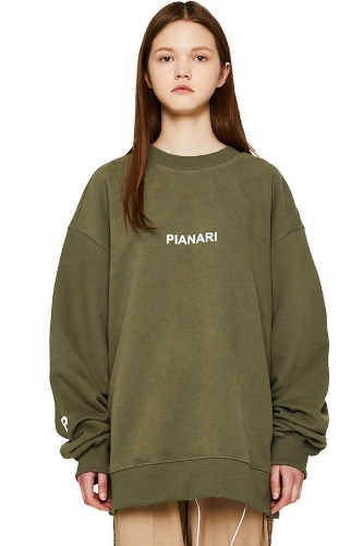 PIANARI피어나리 PIANARI logo Sweat Shirt (olive)