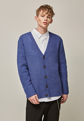 Yan13얀써틴 LOOSE SOFT Y CARDIGAN_BLUE