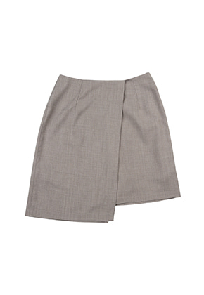 AJO BY AJO FINK LABEL Unbalance Tailored Skirt [Grey]
