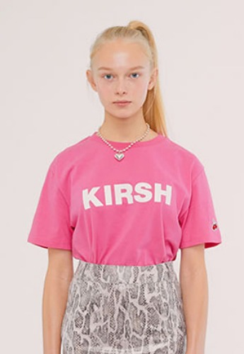 KIRSH키르시 KIRSH LOGO T-SHIRTS IS [PINK]