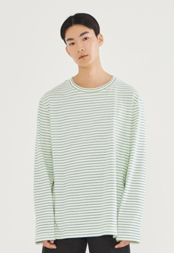 LLUD러드 (LLUD x PIK HOUSE) Stripe T-shirts Green